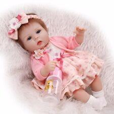 "16""Life Like Reborn Girl Doll Real Soft Silicone Fake Baby Newborn Dolls Toddler"