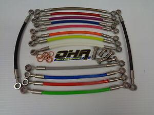OHA Stainless Braided Clutch Line Kit for Suzuki GSXR1100 GSXR 1100 1989-1992
