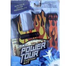 Power Tour Guitar Custom Kit Flames! Stand & Case + Amp! NEW HTF Rare!