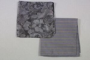 Lot of 2 silk pocket handkerchief made in Italy