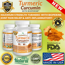 BEST EXTRA STRENGTH TURMERIC CURCUMIN WITH BIOPERINE BLACK PEPPER EXTRACT PILLS!