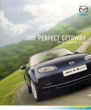 Mazda MX-5 Icon Roadster Limited Edition 2007 UK Market Sales Brochure 1.8i 2.0i