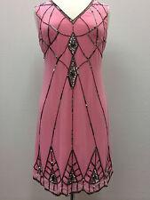 BNWT Gatsby PINK Dress Tunic Top Evening 1920's Shift Dress Size 8 10 12 14