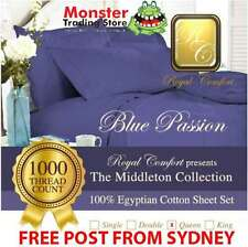 ROYAL COMFORT MIDDLETON SHEET 1000-THREAD COUNT 100% EGYPTIAN COTTON QUEEN