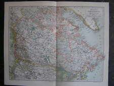 Antique map British North America Brits Amerika 1905