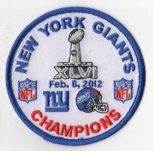 AFL NFL CHAMPION GAME SUPER BOWL XLVI SUPERBOWL SB 46 NY GIANTS CHAMPIONSHIP BDG