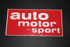 AUTO MOTOR SPORT Rally Aufkleber Sticker Decal Kleber Logo Zeichen Zeitung L