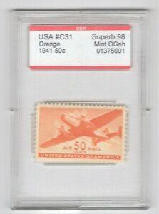 #C31  PSE Superb 98 MNH OG Encapsulated SMQ. $185 (JH 5/12/21) GP