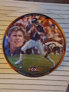"""""""Super Bowl Champion"""" John Elway: King Of The Mountain Collector Plate"""