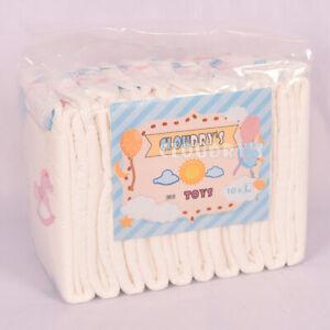 Cloudrys Toys M (10 Stück) Windeln mit Plastikfolie für Erwachsene