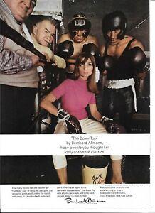 1966 Berhnard Altmann Pink Boxer Top Ring Gloves Woman Boxing Original Print Ad