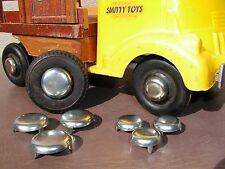 Smith Miller Smitty Ford Chevy GMC Plain 4 Hubcap Set