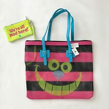 BNWT Disney Parks Alice in Wonderland Cheshire Cat Pink Tote Mesh Beach Bag