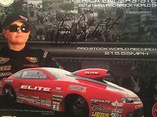 ERICA ENDERS -Stevens Signed Autographed NHRA PRO STOCK CAR  Hero Card