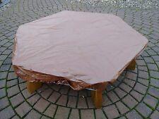 Abdeckhaube für Sandkiste Ø 200 cm, PVC mit Gummizug, braun