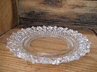Vintage Small Decorative Glass Plate Glamour Shabby Cottage Romantic Decor