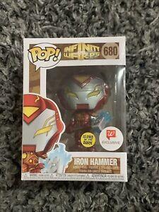 IRON HAMMER Funko Pop Infinity Warps Thor Iron Man GITD Glows Marvel Walgreens