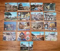 Lot of 18 vintage Postcards from Rome Italy