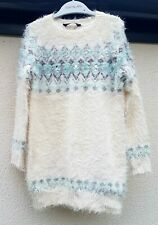GIRLS CLOTHES AGE 5-6 YRS, GEORGE ASDA KNIT LONG SLEEVED WARM WINTER TOP/DRESS