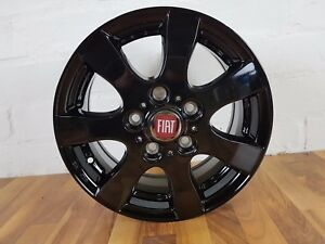 4x Alloy Wheels Fiat 15 Inch Citroen Jumper Black New Offer