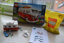 LEGO 10220, VW Bus, Bully, T1 Campingbus (NEU) mit Anhänger und LED Beleuchtung