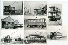 GB TRANSPORT EARLY TROLLEY BUS...8 PHOTOS