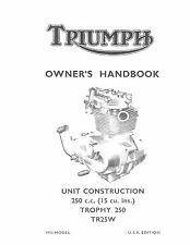Triumph Owners Manual Book 1970 Trophy 250 TR25W