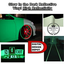 """Glow in the Dark Vinyl Adhesive Cutter Sign Hight Reflectivity 24"""" x 5 FT"""