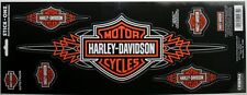 harley davidson motorcycle bike cycle pinstripe decal sticker HD truck car glass