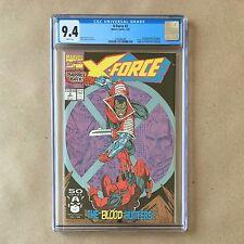 X-Force #2 CGC 9.4 Comic 2nd app. Deadpool 1st app. Weapon X Marvel Rob Liefeld