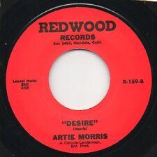 Artie Morris - Desire / Handle With Care - Redwood  45 RE Rockabilly Hear