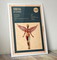 Nirvana Art Print, In Utero Print, Kurt Cobain Poster, Rock Band Poster