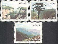 Brazil 1985 National Park/Forest/Trees/River/Canyon/Conservation 3v set (n33021)