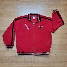 Chicago Bulls Velour Jacket Vintage Reebok Hardwood Classics Retro Jordan