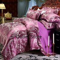 Wedding Luxury Bedding Sets Jacquard Queen/King Size Duvet Cover Set