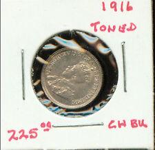 WORLD COINS CANADA 1916 SILVER 5 CENTS BU (2G749)