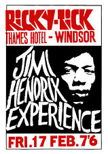 Jimi Hendrix Concert Poster Thames Hotel Windsor 1967