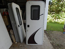 "Trailer Door, 30"" X 78"".  W/Screen Door, With Frame, W/Lock & Key, Take Off, #81"