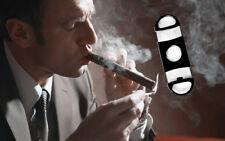 Stainless Steel Blade Cut Tobacco Cigarette Cigar Cutter Ring Gauge Black New