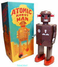 Giant Atomic Robot Man Tin Toy Windup St. John Toys Brown Edition