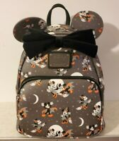 DISNEY MICKEY MINNIE MOUSE LOUNGEFLY BACKPACK BAG HALLOWEEN WITCH VAMPIRE MINI