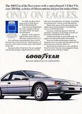 1989 Ford Thunderbird Goodyear 2-page Original Advertisement Car Print Ad J342