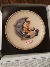 Goebel 1981 Annual 'Bas Relief' Collector's Plate, Free Shipping!