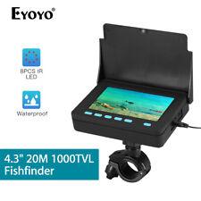"4.3"" 20M Fish Finder 8pcs Ir Led Ip68 + Bracket Underwater Fishing Video Camera"