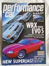 Performance Car Jun 1998 Impreza WRX vs Evo 5, Jaguar XKR, Alfa Romeo GTV V6