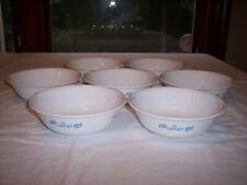 Lot of 7 Corelle Subtle Blue Soup/Cereal Bowls
