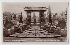 POSTCARD - Daily Mail Ideal Home Exhibition 1928, Entrance to Italian Garden, RP