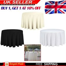 Polyester Round Table Cloth Wedding Party Plain Tablecloths Covers Tableware