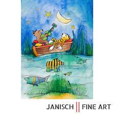 """JANOSCH: """"Es scheint der Mond"""", Farblithografie, handsigniert, Auflage 99, 2013!"""