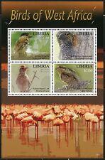 LIBERIA 2016  BIRDS OF WEST  AFRICA  SHEET OF FOUR  MINT NH